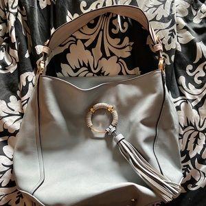 Baby Blue Tassel Hobo Bag